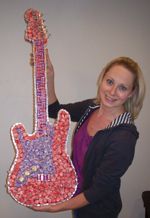 Candy Guitar Sculpture
