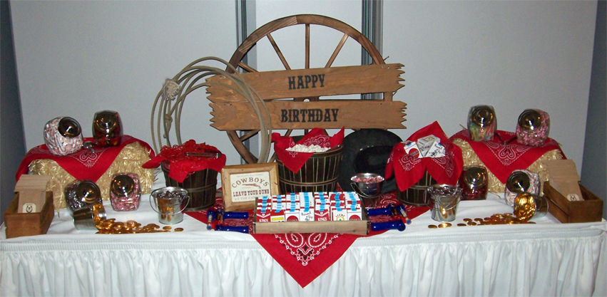 Western Themed Candy Buffet